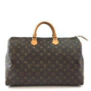 Louis Vuitton Duffle Speedy #43920 40 Boston Duffel Gym Travel Weekender Brown